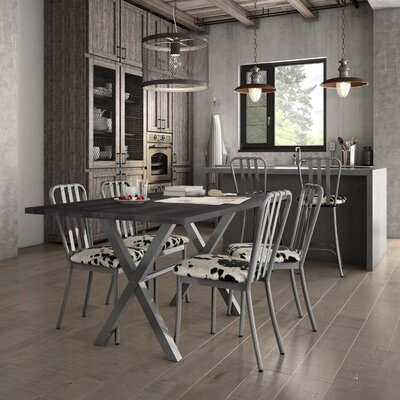 Middleburg Black Metal Side Chair Finish: Glossy Grey