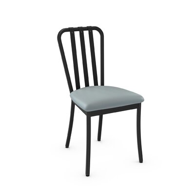 Middleburg Light Blue Metal Side Chair Finish: Textured Black