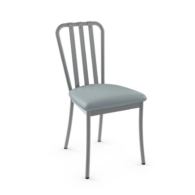Middleburg Light Blue Metal Side Chair Finish: Glossy Grey