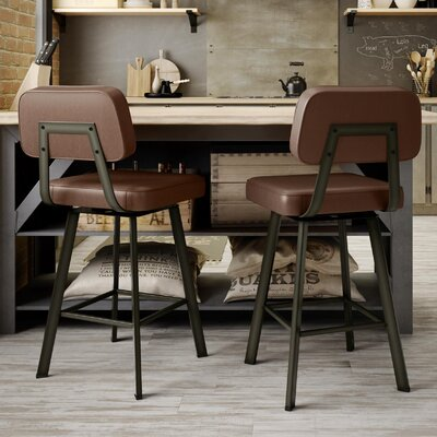 Cloran 26 Swivel Semi-Transparent Bar Stool