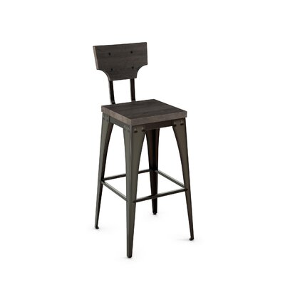 Mariana 26 Bar Stool Finish: Black/Gray