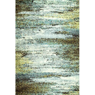 Chester White/Green Area Rug Rug Size: 4 x 6