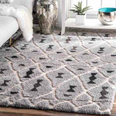Domingues Gray Area Rug Rug Size: Rectangle 4 x 6