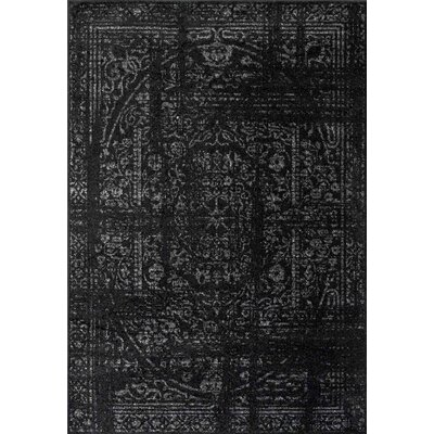 Cromwell Black Area Rug Rug Size: 5 x 8