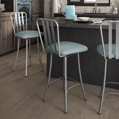 Middleburg 30.75 Swivel Bar Stool Finish: Glossy Gray