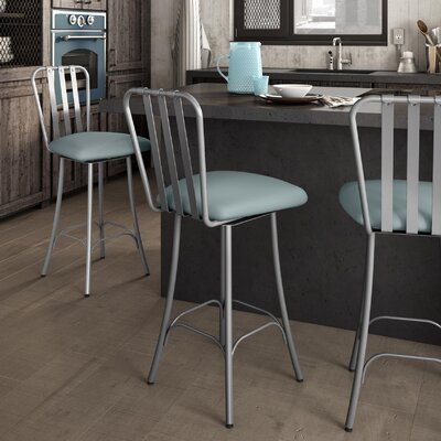 Middleburg 26.75 Swivel Bar Stool Finish: Glossy Gray