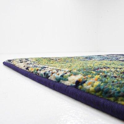 Venado Green/Navy Blue Area Rug Rug Size: Runner 22 x 67