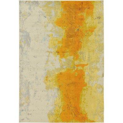 Venado Yellow Area Rug Rug Size: 7 x 10