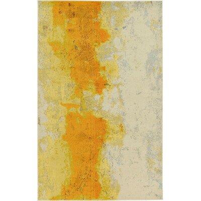 Venado Yellow Area Rug Rug Size: 5 x 8