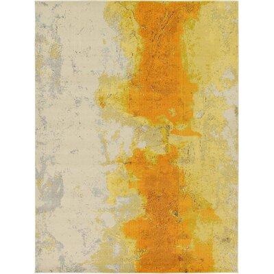 Venado Yellow Area Rug Rug Size: 9 x 12