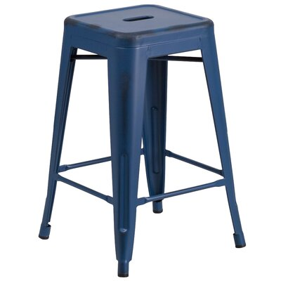 Lompoc 24 Bar Stool Finish: Antique Blue
