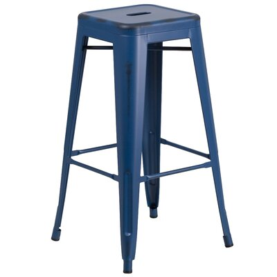 Barchetta 30 Bar Stool Finish: Antique Blue