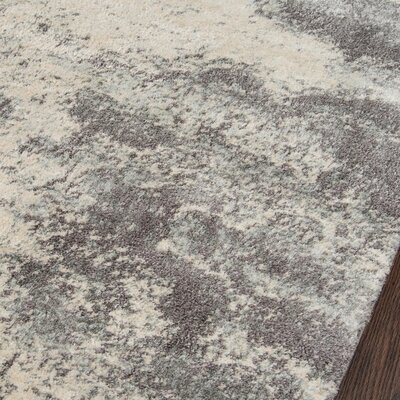 Odyssey Gray/Ivory Area Rug Rug Size: Runner 23 x 76