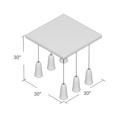 Esteban 6-Light Kitchen Island Pendant Finish: Satin Nickel, Shade Color: Clear