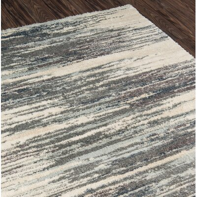 Odyssey Abstract Gray/Ivory Area Rug Rug Size: Runner 23 x 76
