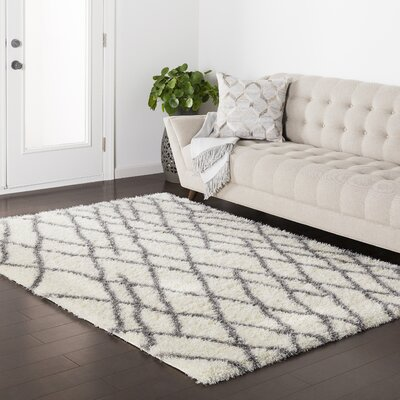 Zachariah White Area Rug Rug Size: Rectangle 67 x 96