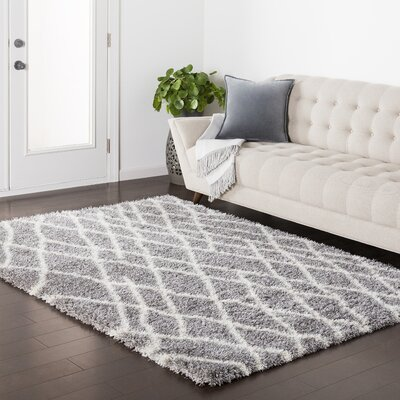 Zachariah Gray Area Rug Rug Size: Rectangle 2' x 3'