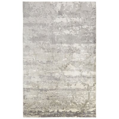Ali Industrial Gray/Ivory Area Rug Rug Size: Rectangle 10 x 13