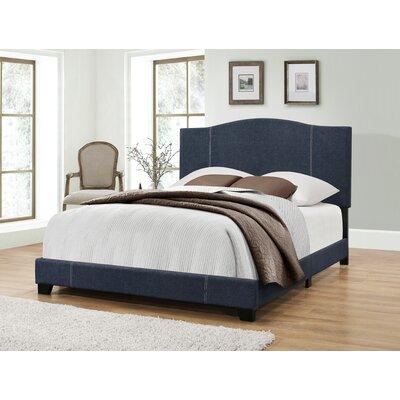Etna Modified Camel Back Upholstered Panel Bed Upholstery: Denim Vintage, Size: King