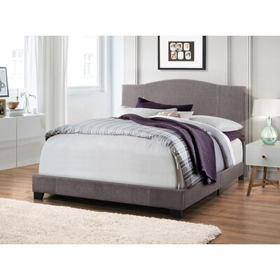 Black Mesa Modified Camel Back Upholstered Panel Bed Size: King, Color: Denim Cement