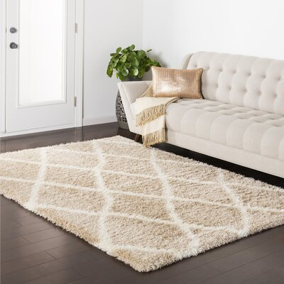 Marysville Brown Area Rug Rug Size: 53 x 73