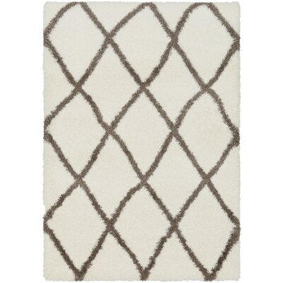 Kolton Trellis Beige Area Rug Rug Size: Rectangle 67 x 96