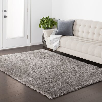 Red Hills Solid Gray Area Rug Rug Size: 710 x 103