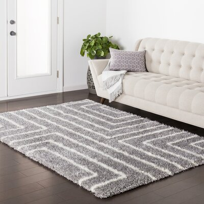 Red Hills Geometric Gray Area Rug Rug Size: 710 x 103