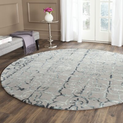 Kinder Hand-Tufted Gray/Charcoal Area Rug Rug Size: Round 7