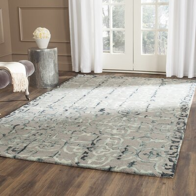 Kinder Hand-Tufted Gray/Charcoal Area Rug Rug Size: Rectangle 5 x 8