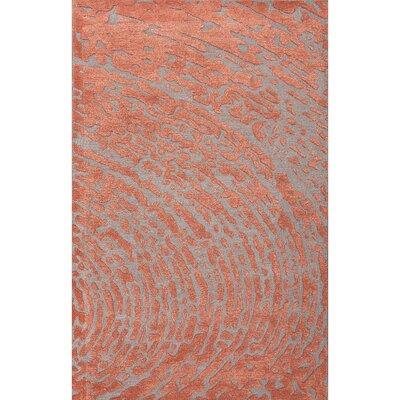 Tierny Red/Gray Area Rug Rug Size: 5 x 8