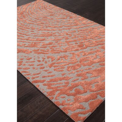 Elyse Hand Tufted Red/Gray Area Rug Rug Size: Rectangle 5 x 8