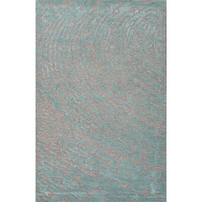 Bevers Gray & Blue Area Rug Rug Size: 8 x 10