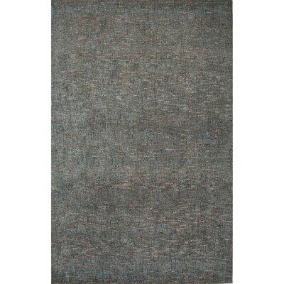 Carli Hand-Woven Silk Gray Area Rug Rug Size: 2 x 3