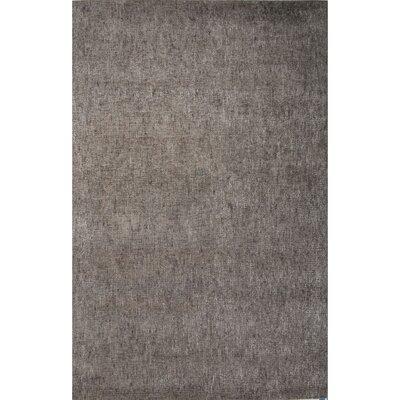 Carli Hand-Woven Silk Grey Area Rug Rug Size: 9 x 12