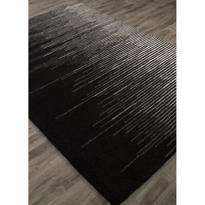 Brittanie Hand-Tufted Black/Gray Area Rug Rug Size: Rectangle 9 x 12