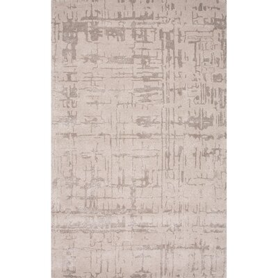 Elyse Hand-Tufted Gray Area Rug Rug Size: 96 x 136