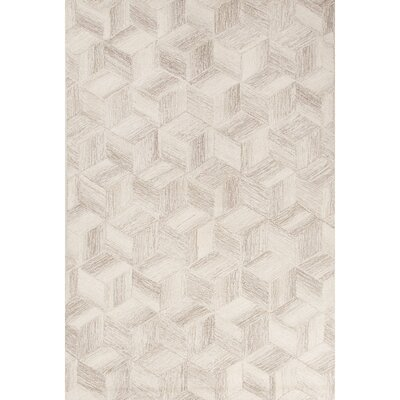 Weiss Hand-Tufted Ivory/Gray Area Rug Rug Size: 8 x 10