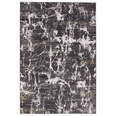 Lizette After Dark/Moon Beam Gray Area Rug Rug Size: 2 x 3