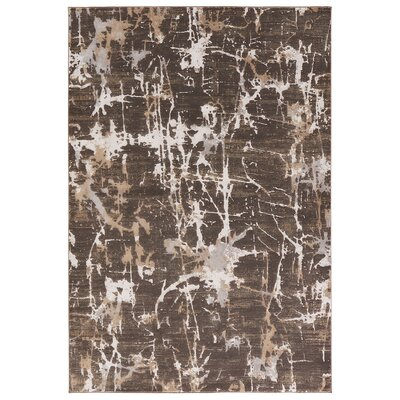 Lizette Brown Area Rug Rug Size: 5 x 76