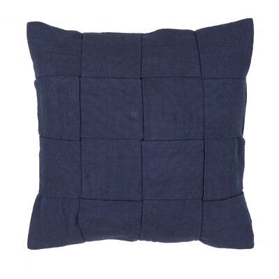 Bailey Solid Cotton Throw Pillow Size: 22 H x 22 W, Color: Blue