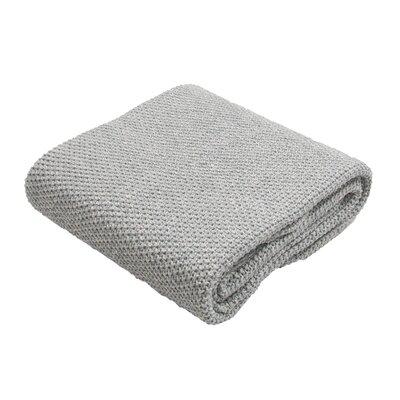 Harrison Handloom Modern Cotton Throw Blanket Color: Blue
