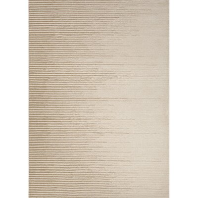 Weiss Wool Hand Tufted Ivory/White Area Rug Rug Size: 5 x 8