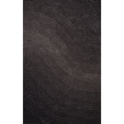 Domenick Polyester Shag Gray Area Rug Rug Size: Rectangle 76 x 96