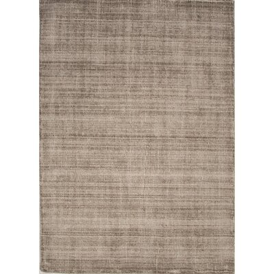 Ginger Wool Tan Solids/Handloom Area Rug Rug Size: 53 x 76