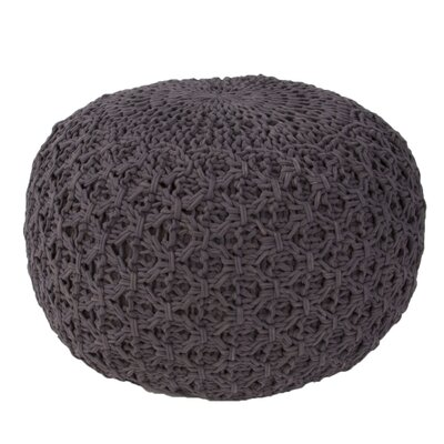 Carin Pouf Upholstery: Dark Gray