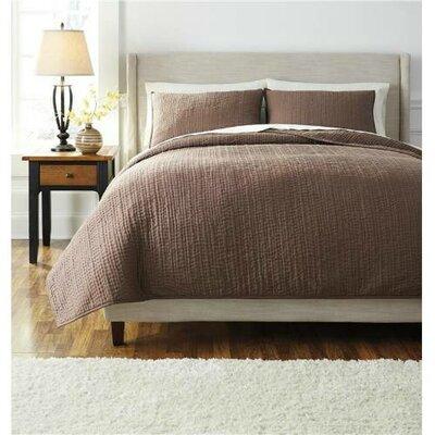 Kalene 3 Piece Comforter Set Size: King, Color: Chocolate
