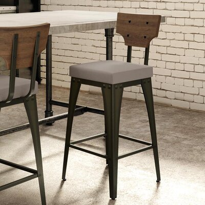 Coatbridge 26.88 Bar Stool Finish: Semi-Transparent/Warm Grey/Medium Brown