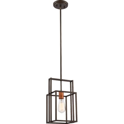 Jefferson 1-Light Mini Pendant Finish: Bronze/ Copper Accents