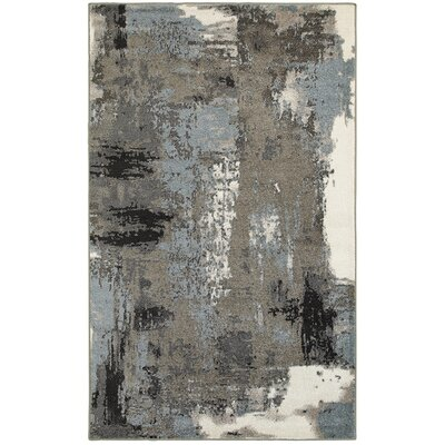 Rockford Blue/Gray Area Rug Rug Size: 52 x 72